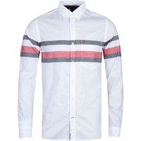 Tommy Hilfiger Slim Globe Stripe White Shirt