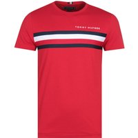 Tommy Hilfiger Red Global Stripe T-Shirt