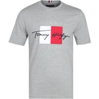Tommy Hilfiger Relaxed Fit Signature Logo Grey T-Shirt