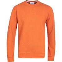 Norse Projects Vagn Moss Bright Orange Crew Neck Sweatshirt