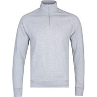 Norse Projects Alfred Light Grey Melange Quarter-Zip Sweatshirt