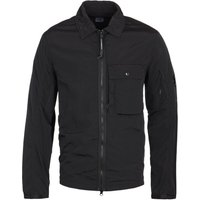 CP Company Chrome Zip-Through Black Overshirt