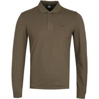 CP Company Green Long Sleeve Polo Shirt