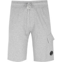 CP Company Grey Marl Goggle Sweat Shorts