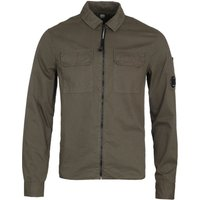 CP Company Full Zip Pocket Olive Green Long Sleeve Shirt