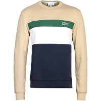 Lacoste Beige Colour Block Sweatshirt
