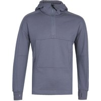 CP Company Half Zip Diagonal Raised Fleece Blue Pullover Goggle Hoodie