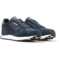 Emporio Armani Navy Suede Runner Trainers