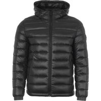 BOSS Water Repellent Featherweight Down Hooded Jacket - Black