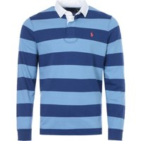 Polo Ralph Lauren Block Stripe Rugby Shirt - Blue and Navy