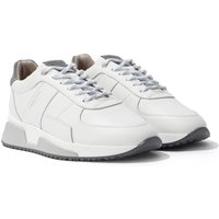 Android Homme Matador Reflective Leather Trainers - White