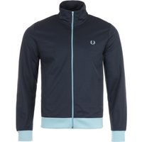 Fred Perry Contrast Trim Track Jacket - Dark Airforce