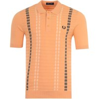 Fred-Perry-Broken-Stripe-Knitted-Polo-Shirt-Light-Coral