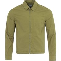 PS-Paul-Smith-Crinkle-Stretch-Cotton-Zip-Overshirt-Olive