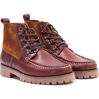 Barbour Topsail Leather and Suede Boots - Cognac