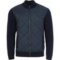 Barbour Arch Wool Diamond Quilted Zip Sweater - Navy