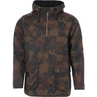 Barbour White Label Waxed Cotton Smock Jacket - Olive Camo
