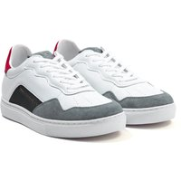 Armani-Exchange-Leather-Trainers-White-and-Red