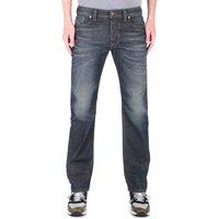 Diesel Larkee Pantaloni Straight Fit Dark Treated Blue Wash Denim Jeans