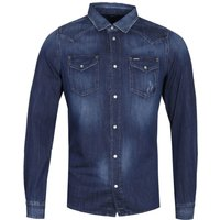 Diesel New-Sonora Camicia Indigo Denim Long Sleeve Shirt