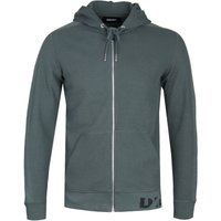 Diesel S-Gina Felpa Forest Green Zip-Up Hoodie