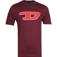 Diesel Large Logo Burgundy T-Shirt