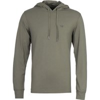 True Religion Long Sleeve Military Green Hooded T-Shirt