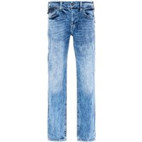 True Religion Ricky Relaxed Straight Fit Flap Light Blue Jeans
