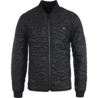 True Religion Camo Quilted Liner Black Jacket