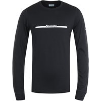 Columbia Lodge Bar Split Long Sleeve T-Shirt - Black