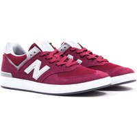 New Balance All Coasts 574 Burgundy with Grey Suede Trainers