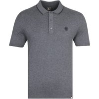 Pretty Green Slim Fit Tipped Dark Grey Marl Polo Shirt