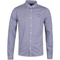 Pretty Green Glendale Navy Gingham Shirt