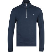 Farah Aintree Quarter-Zip Navy Sweatshirt