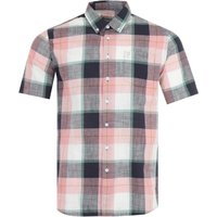 Farah Kasmin Modern Fit Short Sleeve Check Shirt - Pastel Pink