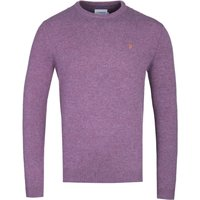 Farah Rosecroft Rose Taupe Marl Lambswool Sweater