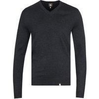 Pretty Green Hanover Charcoal V-Neck Sweater