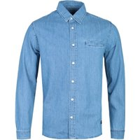 Edwin Better Light Blue Long Sleeve Denim Shirt