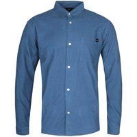 Edwin Minimal Long Sleeve Legion Blue Corduroy Shirt