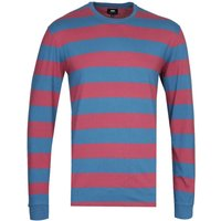 Edwin Beely Long Sleeve Blue & Red T-Shirt