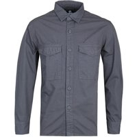 Edwin Big Patch Pocket Long Sleeve Ebony Grey Shirt