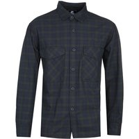 Edwin Checked Long Sleeve Navy Shirt