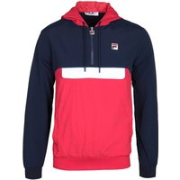 Fila Colour Block Quarter-Zip Navy & Red Overhead Jacket