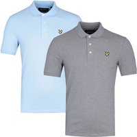 Lyle & Scott Grey & Blue Polo Shirt 2 Pack
