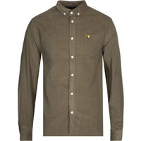 Lyle-and-Scott-Needle-Cord-Olive-ButtonDown-Shirt
