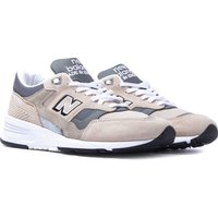 New Balance 1530 Made in England Tan, Grey & White Suede Trainers