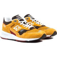New Balance 1530 Made in England Mustard & Brown Suede Trainers