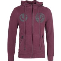 True Religion Multi Logo Port Red Zip-Through Hoodie