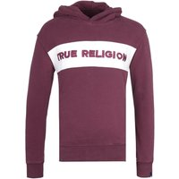 True Religion Embroidered Logo Port Red Pullover Hoodie