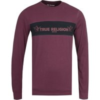 True Religion Long Sleeve Chest Panel Port Red T-Shirt
